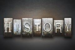 Historii Letterpress obraz royalty free