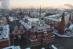Historii muzeum na placu czerwonym zdjęcia stock