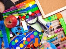 Historique complet d'un assortiment coloré d'école Photo stock