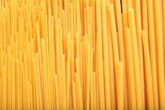 Historique complet des pâtes crues de spaghetti Photo libre de droits
