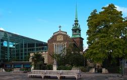 Historique toute la Sanctifier-par-le-tour ou St Mary toutes la Vierge ou sanctifie l'écorcement - une Église Anglicane antique s photographie stock