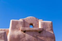 Historisch Adobe die Railyard Van de binnenstad Santa Fe bouwen Royalty-vrije Stock Foto