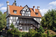 Historisch, Altbau in Gdansk stockbild
