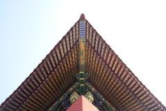 Historisch architecturaal dak in Peking royalty-vrije stock fotografie