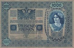 Historisch - Banknote Lizenzfreies Stockfoto
