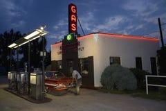 Historisch benzinestation Stock Afbeeldingen