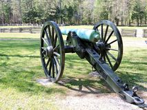 Historisch Burgeroorlogkanon bij Chickamauga-Slagveld stock foto's