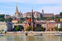 Historisch centrum van Boedapest Stock Foto