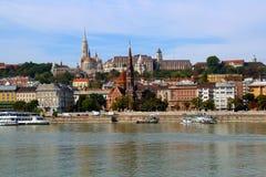 Historisch centrum van Boedapest - panorama stock foto's