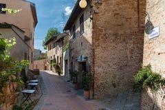 Historisch Centrum van Certaldo, Toscanië Stock Foto's