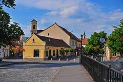 Historisch centrum van de oude stad van Szentendre Stock Fotografie