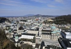 Historisch centrum van Salzburg Stock Foto's