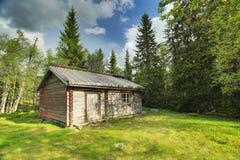 Historisch chalet in het natuurreservaat Tandovala in Dalarna, Zweden royalty-vrije stock foto