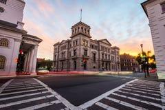 Historisch Charleston South Carolina Van de binnenstad bij Nacht Stock Foto's