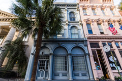 Historisch Charleston South Carolina Van de binnenstad op een Warme Dag Stock Fotografie