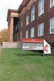Historisch Cory United Methodist Church op het Oosten vijfenvijftigste in Cleveland, Ohio, de V.S. stock afbeeldingen