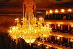 Historisch de bouw van het Bolshoitheater binnenland Stock Foto's