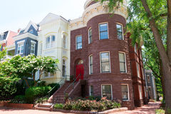 Historisch de huizen in de stadwashington dc van Georgetown Stock Fotografie