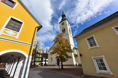 Historisch de stad in van Spittal een der Drau oostenrijk Royalty-vrije Stock Foto