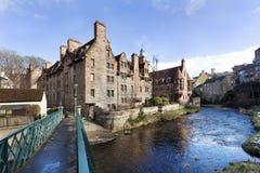 Historisch Dean dorp in Edinburg royalty-vrije stock afbeeldingen