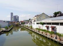 Historisch deel van de oude Maleise stad Stock Afbeelding