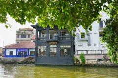 Historisch deel van de oude Maleise stad Royalty-vrije Stock Foto