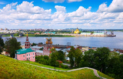 Historisch district van Nizhny Novgorod. Rusland Stock Foto