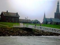 Historisch dorp Medemblik, Holland, Nederland stock fotografie