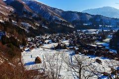 Historisch Dorp van Shirakawago in de winter, Japan Royalty-vrije Stock Afbeelding