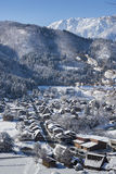 Historisch Dorp van Shirakawago in de winter, Japan Stock Foto's