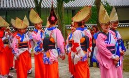 Historisch festival, Nara, Japan stock afbeelding