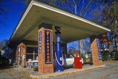 Historisch Firestone benzinestation Stock Afbeelding