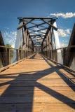 Historisch Fraser Bridge in Quesnel, BC, Canada stock afbeelding