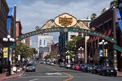 Historisch Hart van San Diego, Californië Stock Foto's