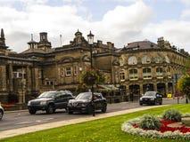 Historisch in het Westen het Berijden van Yorkshire, is Harrogate een toeristenbestemming en zijn bezoekeraantrekkelijkheden omva stock afbeeldingen