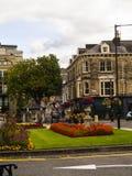 Historisch in het Westen het Berijden van Yorkshire, is Harrogate een toeristenbestemming en zijn bezoekeraantrekkelijkheden omva royalty-vrije stock afbeelding