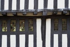 Historisch hout-Ontworpen Huis Stock Fotografie