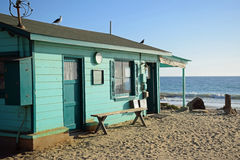 Historisch huis in Crystal Cove State Park stock foto