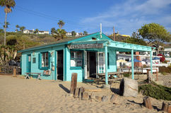 Historisch huis in Crystal Cove State Park stock afbeelding