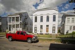 Historisch huis in een district van New Orleans Stock Afbeelding