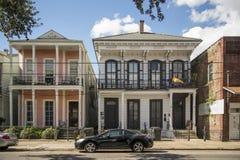 Historisch huis in een district van New Orleans Royalty-vrije Stock Foto's