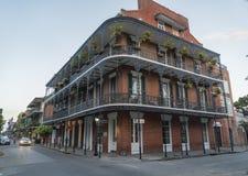 Historisch huis in het Franse Kwart van New Orleans Stock Foto