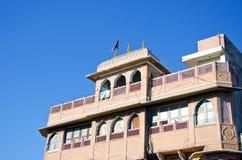 Historisch huis in Jaipur, India stock foto's