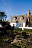 Historisch huis in Koloniale Williamsburg, VA Stock Afbeeldingen