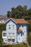 Historisch Huis in Valparaiso, Chili Stock Afbeelding
