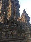 Historisch Indonesië Gesneden steen Architectuur Hindoese Tempel stock foto's