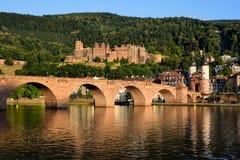 Historisch kasteel in Heidelberg, Duitsland Stock Foto's