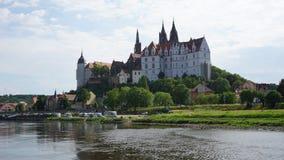 Historisch kasteel in Saksen, Duitsland Stock Foto