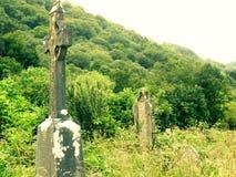 Historisch kerkhof in Ierland Stock Fotografie
