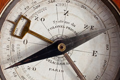 Historisch kompas Stock Foto's